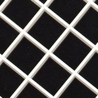 15mm square eggcrate white